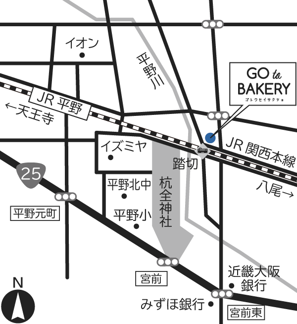 GO to BAKERY 地図