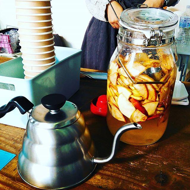 あひる珈琲さんの新商品は『りんごMIX』ホットでいただきましたが薫りが良くおいしかったです13:00まで飲めます!皆様のご来店お待ちしております。#平野区 #パン屋 #あひる珈琲